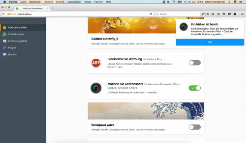 Firefox 48 Add-ons suchen