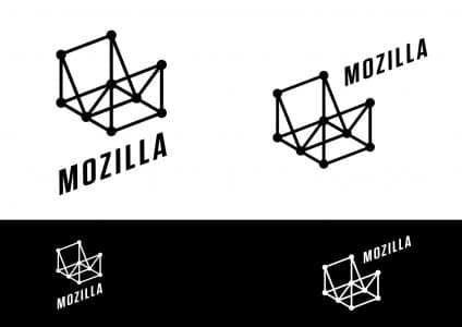 Mozilla Logo-Entwurf: Wireframe World