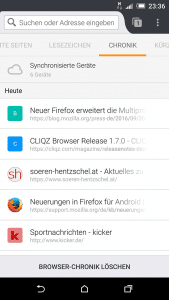 Firefox 49 Android Favicons