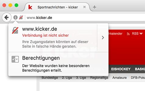 HTTP-Webseite mit Passwort-Feld