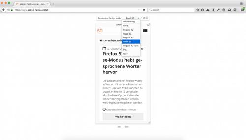 Bandbreiten-Drosselung in Firefox
