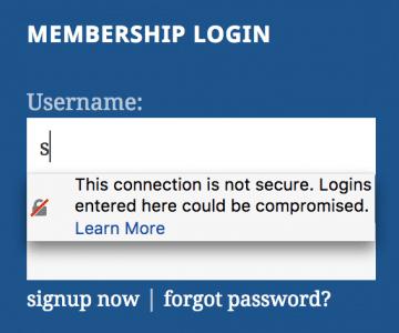 HTTP Passwort-Warnung Firefox 53