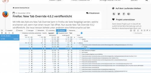 Speicher-Werkzeug Firefox 50