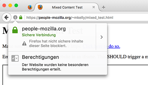 Mixed Active Content Firefox 50