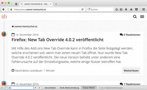 Suchleiste Firefox 50