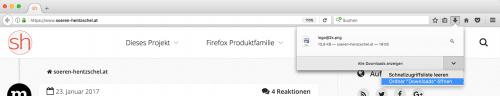 Downloads-Panel Firefox 51