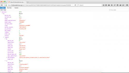 JSON-Betrachter Firefox 53