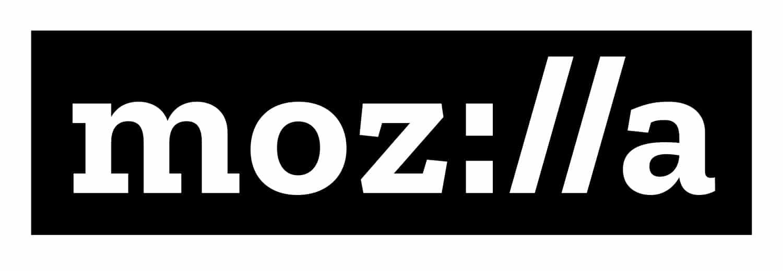 Das neue Mozilla Logo: Weiß auf Schwarz. Die bekannten, häufig mit Protokoll assoziierten :// sind der Mittelpunkt des Logos (Quelle: Soeren-Hentzschel.at)