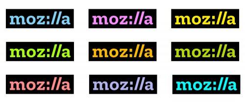 Mozilla-Logo Farbpalette