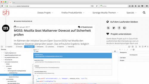 Neuer Debugger Firefox 51