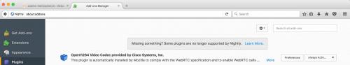 Plugins Firefox 53