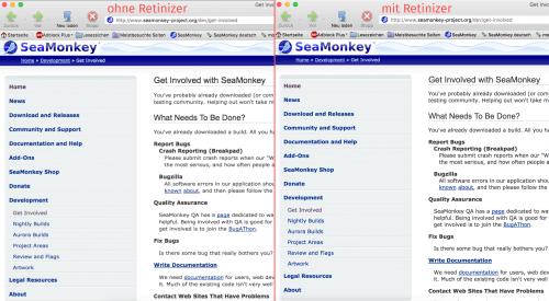 SeaMonkey und HiDPI-Bildschirme