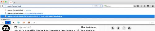 Suchmaschinen in Adressleiste Firefox 51