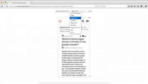 Responsive Design Modus Firefox 52