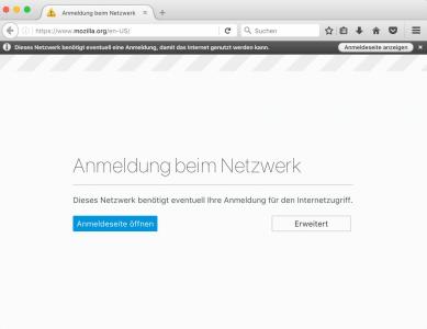 WLAN-Portal, Firefox 52