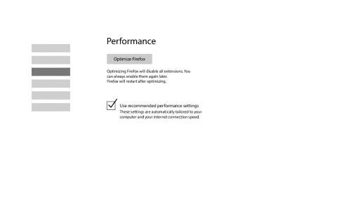 Performance-Einstellungen