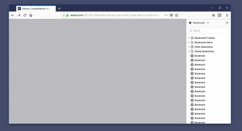 Photon Firefox 57 Lesezeichen-Sidebar