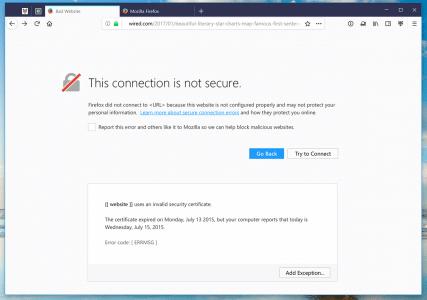 Photon Firefox 57 HTTPS-Fehler
