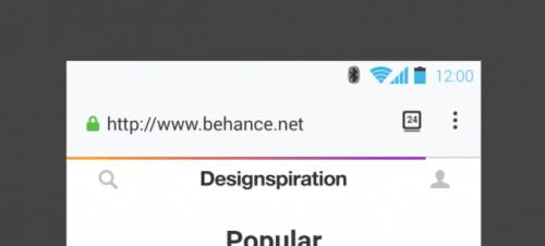 Photon Android Ladefortschritts-Anzeige