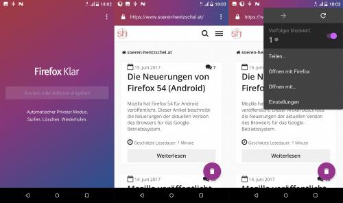 Firefox Klar für Android