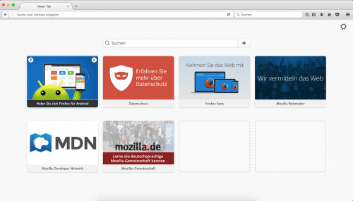 Firefox about:newtab