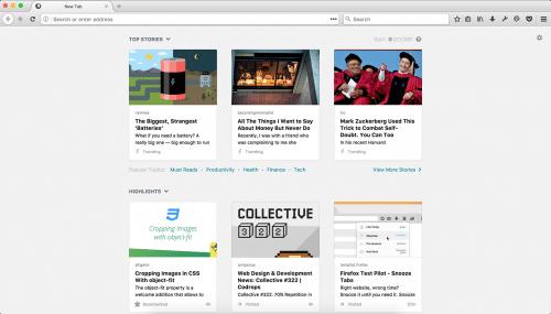 Neuer Tab Firefox 57