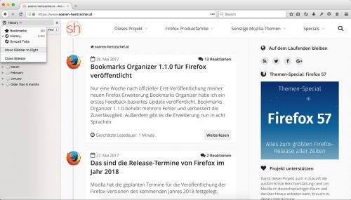 Sidebars in Firefox 55