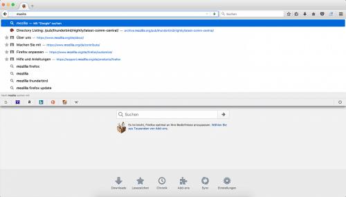 Firefox 55 Adressleiste