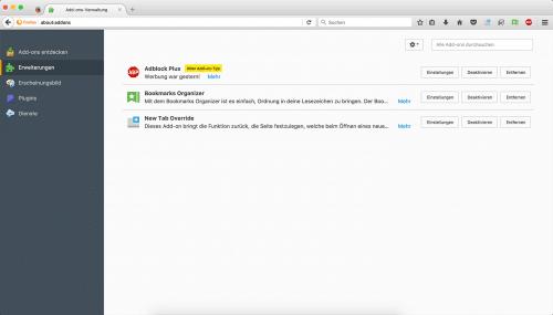 Firefox 55 Legacy Add-ons