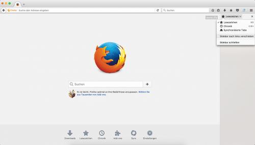 Firefox 55 Sidebar-Position
