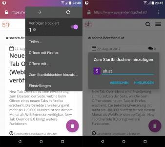 Firefox Klar 1.2 für Android