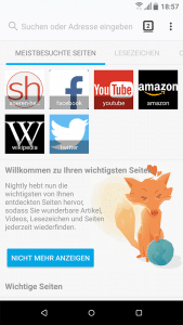 Photon-Design Firefox für Android