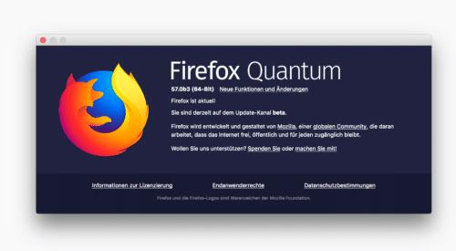 Firefox Quantum Beta