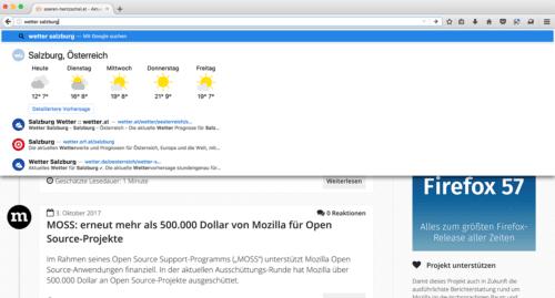 Firefox 56 Cliqz