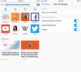 Firefox 10.0 für Apple iOS