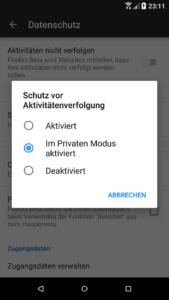 Firefox 57 für Android