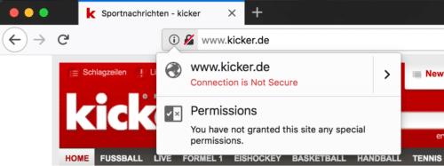 Firefox 59: unsicheres HTTPS