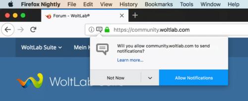 Web Notifications in Firefox