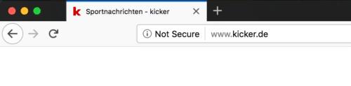 Firefox 60 Unsichere Verbindung