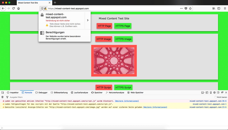 Firefox 60: Automatisches HTTPS-Upgrade für HTTP-Ressourcen