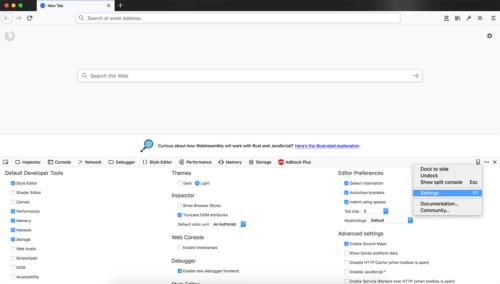 Firefox 61: Entwickler-Werkzeuge
