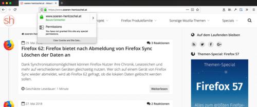Cookies löschen Firefox 62