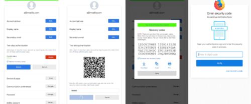 Firefox Accounts Zwei-Schritt-Authentifizierung