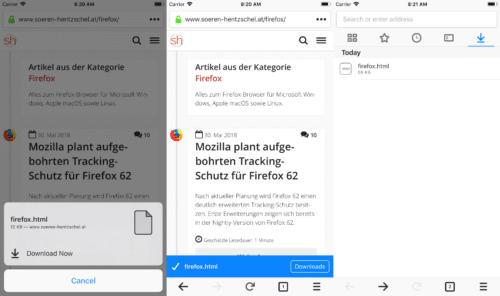 Firefox 12.0 für Apple iOS