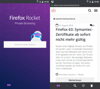 Private Browsing in Firefox Rocket 3.0
