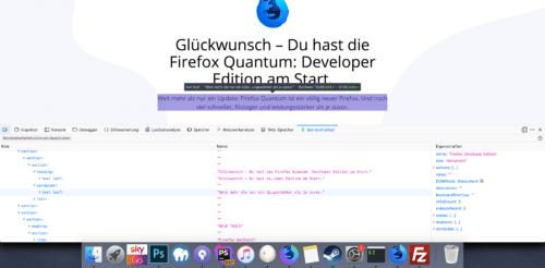 Kontrastverhältnis Firefox 65