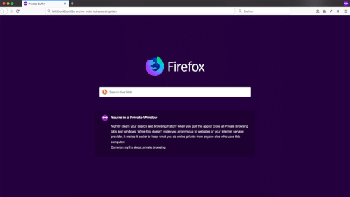 Privates Fenster Firefox 66