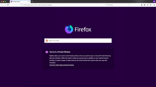 Privates Fenster Firefox 66