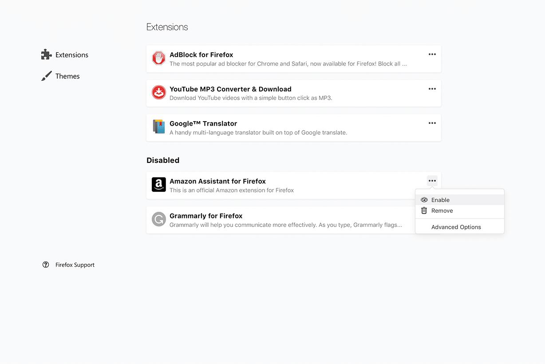 Vorschau auf den neuen Add-on Manager von Firefox