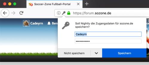 Passwort-Manager Firefox 67